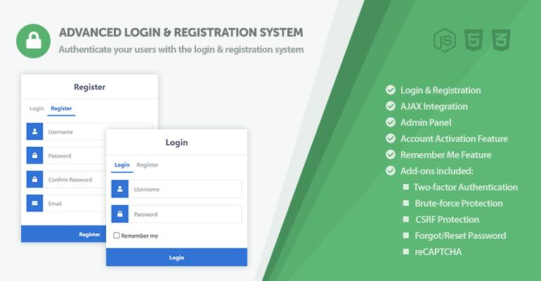 Advanced Secure Login & Registration System