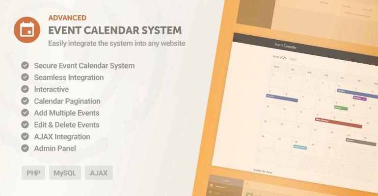 Advanced Event Calendar System
