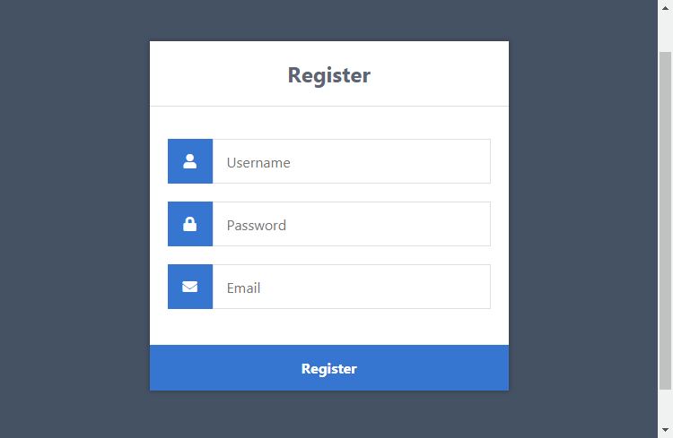 Awesome HTML Registration Form Layout
