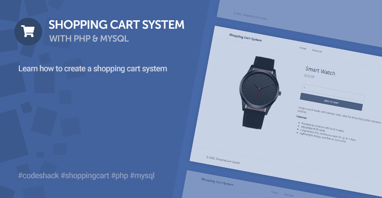 Shopping Cart System with PHP and MySQL