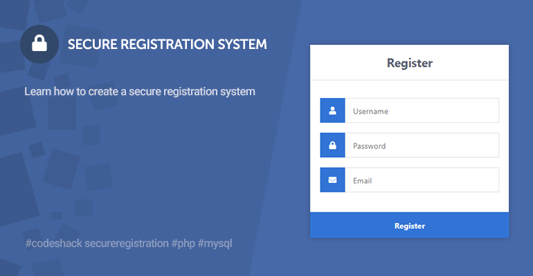 Secure Registration System with PHP and MySQL