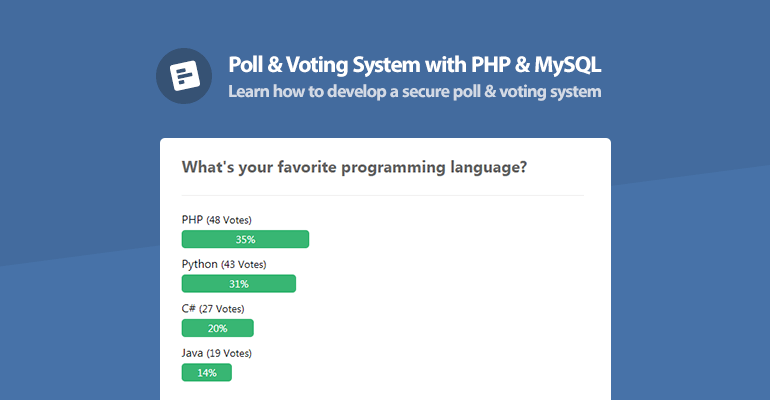 Poll and Voting System with PHP and MySQL