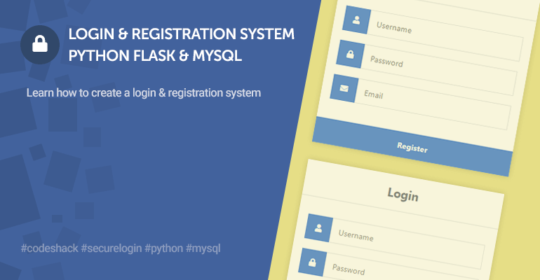 Login System with Python Flask and MySQL