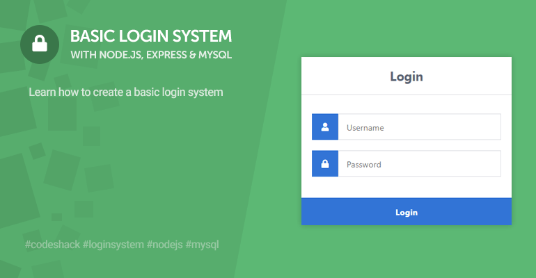 Basic Login System with Node.js, Express, and MySQL