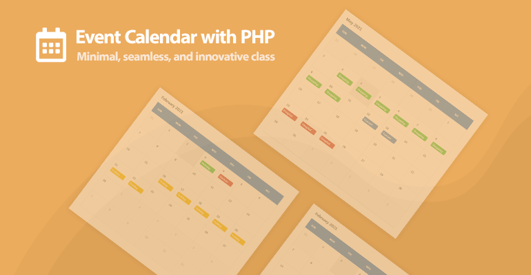 Event Calendar with PHP