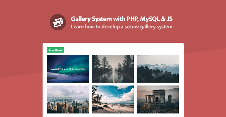 Gallery System with PHP, MySQL and JS