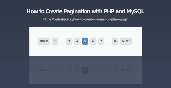 How to Create Pagination with PHP and MySQL
