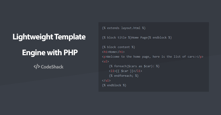 Best Php Template Engine from codeshack.io