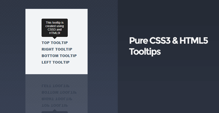 Pure CSS3 and HTML5 Tooltips