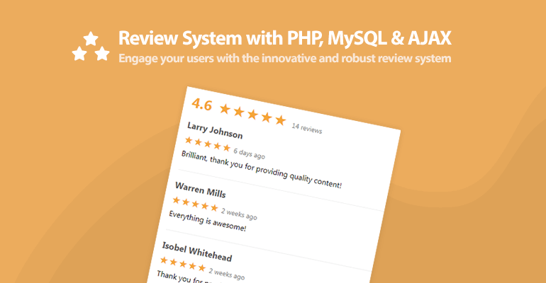 Review System with PHP, MySQL, and AJAX